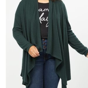 Lane Bryant softest touch waffle knit overpiece